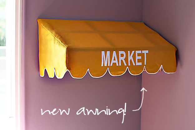 DIY Play Market - DIY Kids Play Market/restaurant - Market Awning