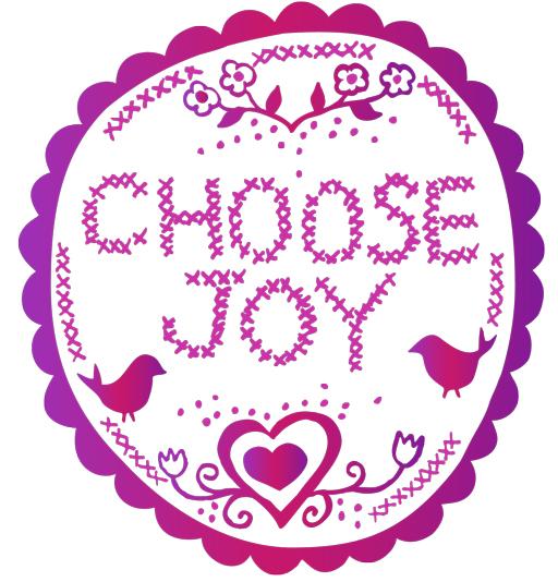 A Free Choose Joy Graphic Download Printable from Lil Blue Boo / Ashley Hackshaw