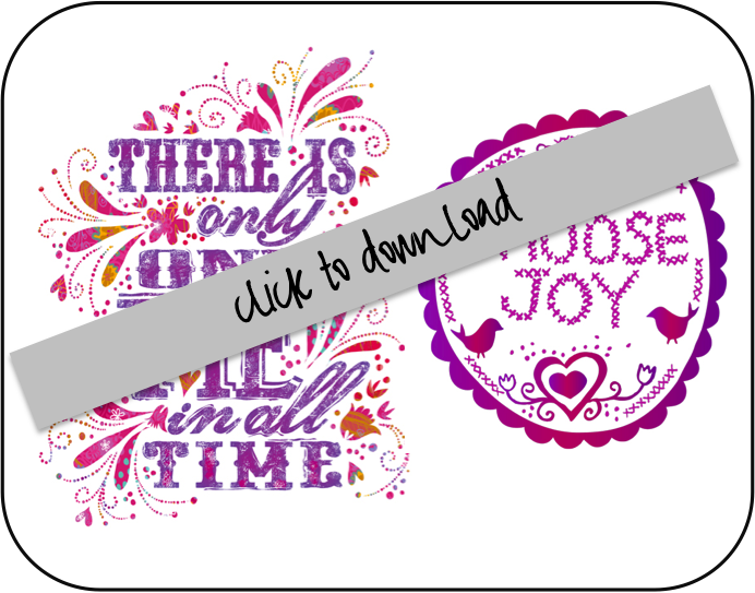 Choose Joy and One of Me in All Time Free Download Printable Art DIY Tutorial via lilblueboo.com