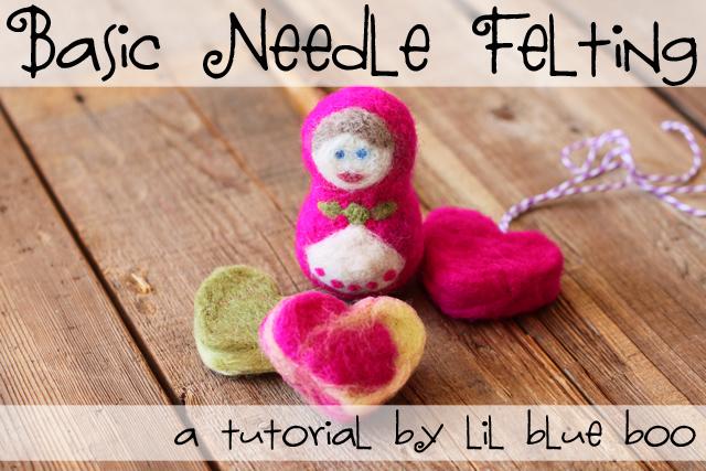 Basic Needle Felting Technique - DIY Tutorial via lilblueboo.com