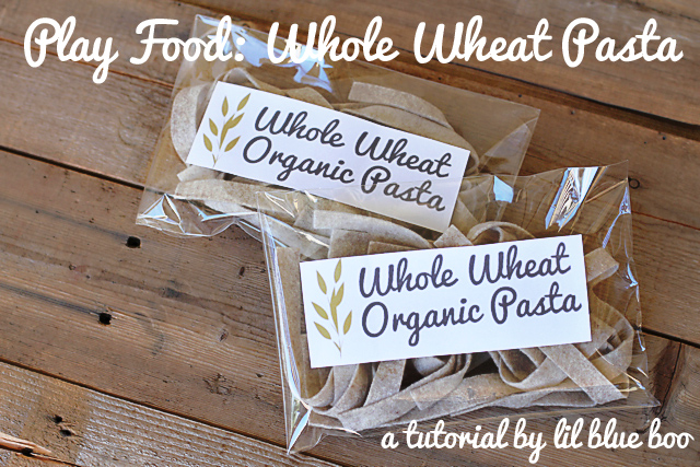 Play Food: Whole Wheat Pasta via lilblueboo.com