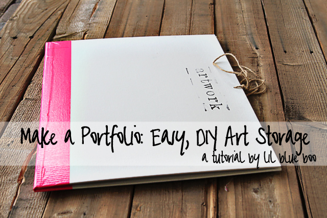 Make a Portfolio: Easy, DIY Artwork or Photo Storage via lilblueboo.com