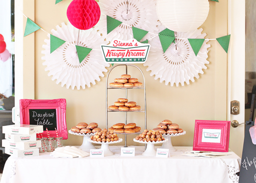 Krispy Kreme Doughnut Party via lilblueboo.com