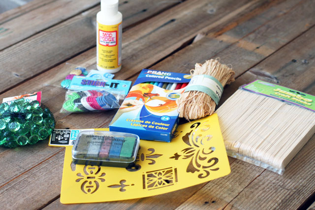 scribble craft challenge supplies via lilblueboo.com