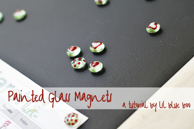 Painted Glass Magnets (A Tutorial) via lilblueboo.com