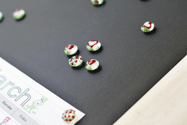 Painted Glass Magnets Step 6 (A Tutorial) via lilblueboo.com