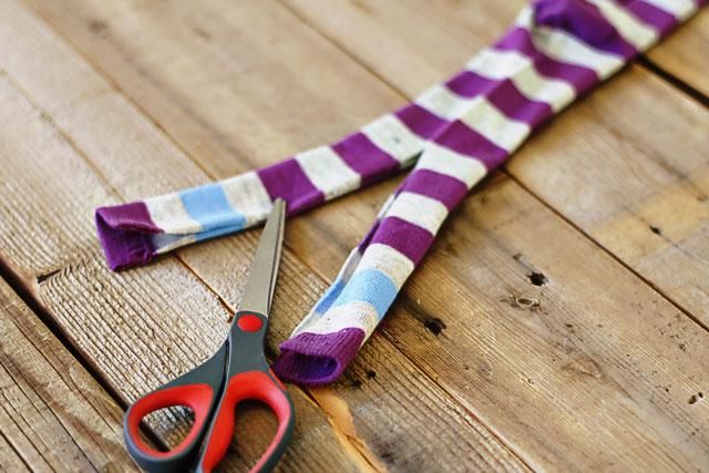 How to make a sock bunny - Step 2. DIY Tutorial via lilblueboo.com