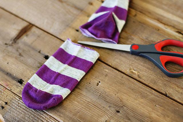 How to make a sock bunny - Step 3. DIY Tutorial via lilblueboo.com
