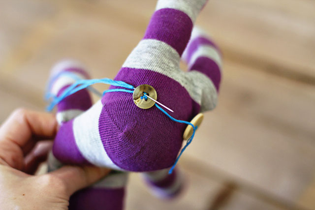 How to make a sock bunny - Step 12. DIY Tutorial via lilblueboo.com