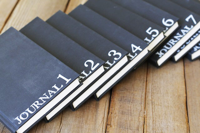 The Lil Journal Project via lilblueboo.com - Collaborative Traveling Journal
