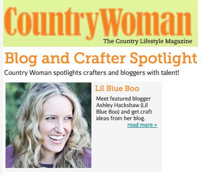 country woman spotlight via lilblueboo.com