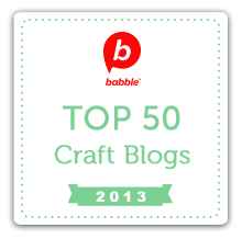 named one of babble's top 50 craft bloggers via lilblueboo.com