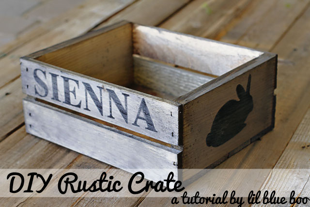 Make a Rustic Crate (A Tutorial) via lilblueboo.com