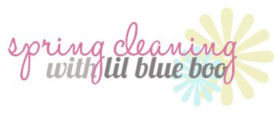 Spring Cleaning Series via lilblueboo.com