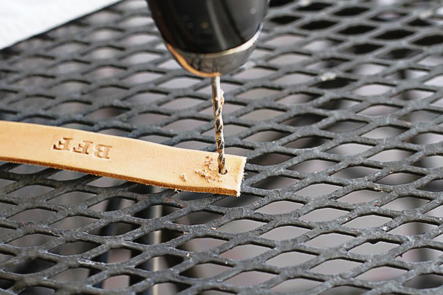 Adding Hole to Leather Bracelets - DIY Tutorial via lilblueboo.com