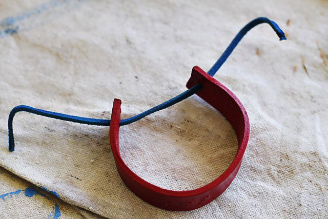 Leather Lacing with Leather Bracelet -  DIY Tutorial via lilblueboo.com