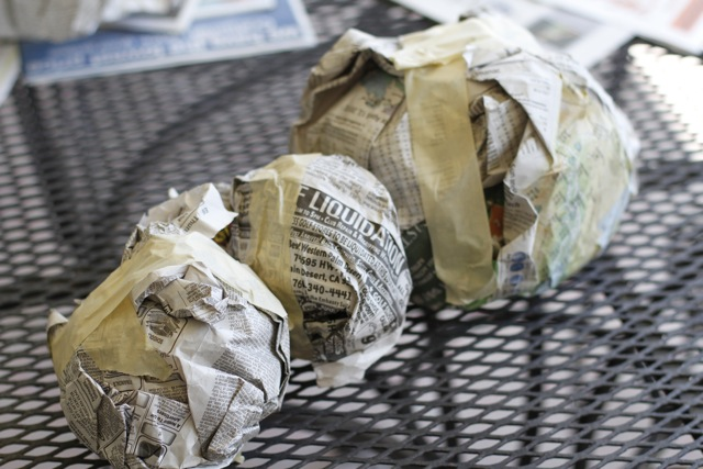 DIY paper mache animal heads tutorial and process via lilblueboo.com