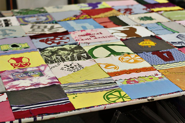 How to make a memory quilt from baby blankets, clothes and t-shirts. DIY tutorial 9 via lilblueboo.com