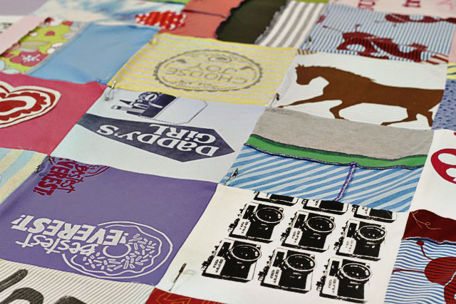 How to make a memory quilt from baby blankets, clothes and t-shirts. DIY tutorial 22 via lilblueboo.com