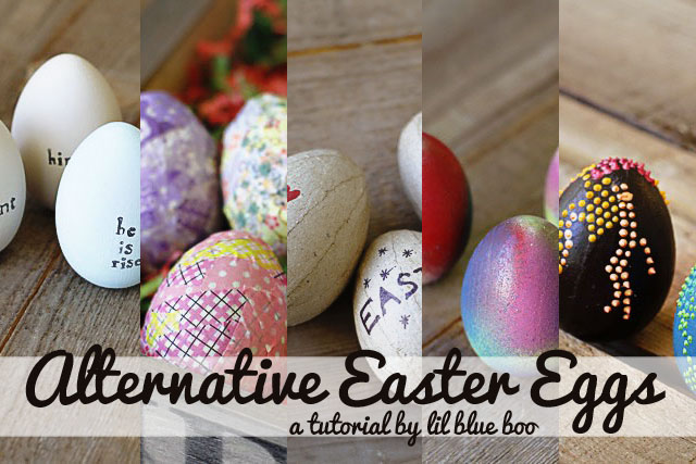 Alternative Easter Eggs (A Tutorial) via lilblueboo.com