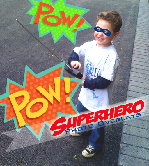 Free superhero photo overlays #photography #photoshop via lilblueboo.com