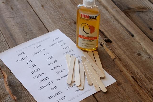 Herb Garden Markers tutorial 2 DIY (Free Download) via lilblueboo.com