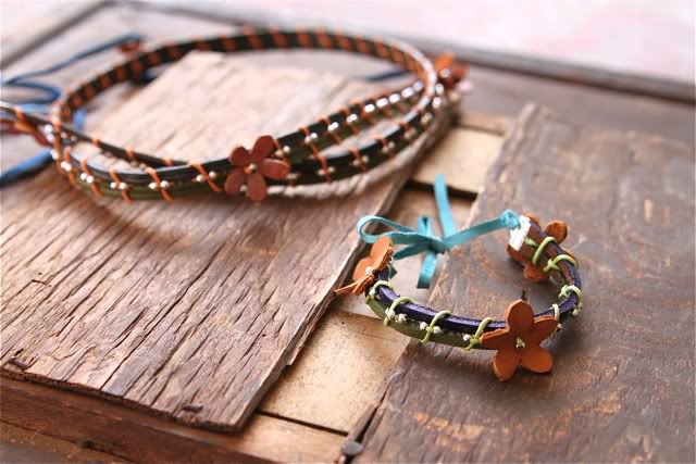 DIY Mix and Wrapped Bracelets Tutorial 21 via lilblueboo.com