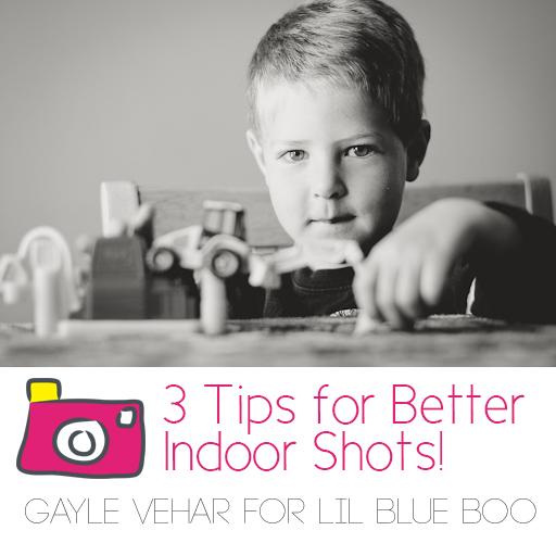 3 Tips for Better Indoor Photography via lilblueboo.com