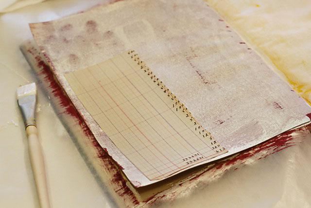 How to turn an old book into an art journal. DIY tutorial via lilblueboo.com