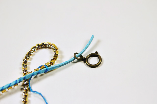 DIY Mix and Wrapped Bracelets Tutorial 5 via lilblueboo.com