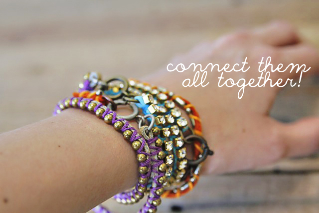 DIY Mix and Wrapped Bracelets Tutorial 20 via lilblueboo.com