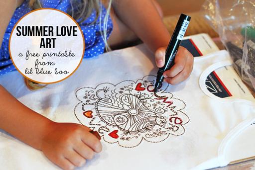 Summer Love Art Free Printable for DIY via lilblueboo.com