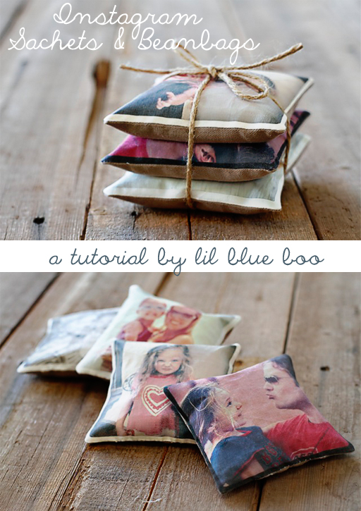 Instagram Sachets and Beanbags DIY Tutorial via lilblueboo.com