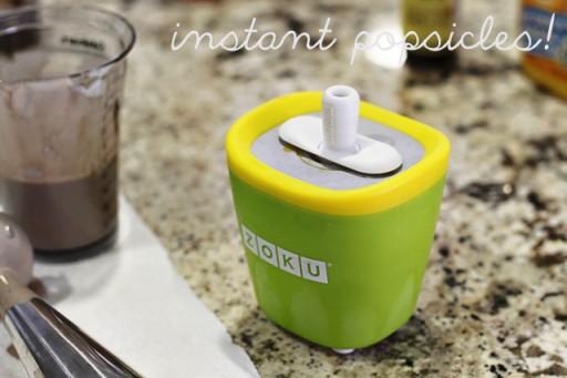 Zoku Pop Maker and Easy Pudding Pop Recipe via lilblueboo.com