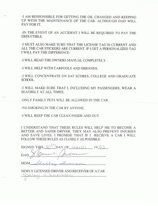 Teenager contract via liblueboo.com