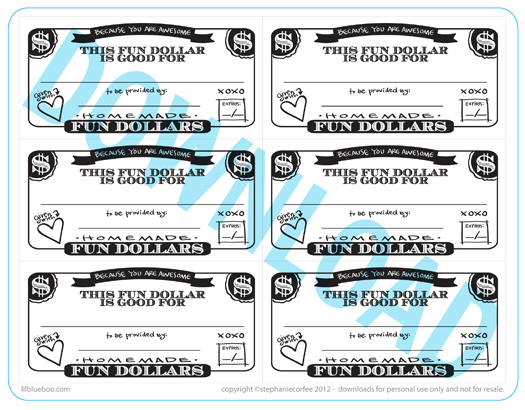 fun dollar coupons free printable download via lilblueboocom