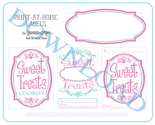Felt Cookie Play Food and Free Sweet Treat Baked Good Printable Download via lilblueboo.com