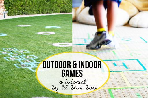 Outdoor and indoor games for kids DIY tutorial via lilblueboo.com