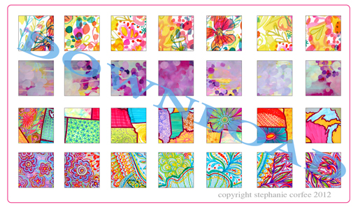 Free sheet mini art prints download for diy jewelry pendants and accessories by @stephanie corfee  for lilblueboo.com