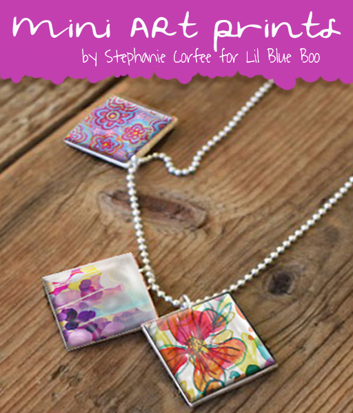 Free mini art prints download for diy jewelry pendants and accessories by @stephanie corfee  for lilblueboo.com