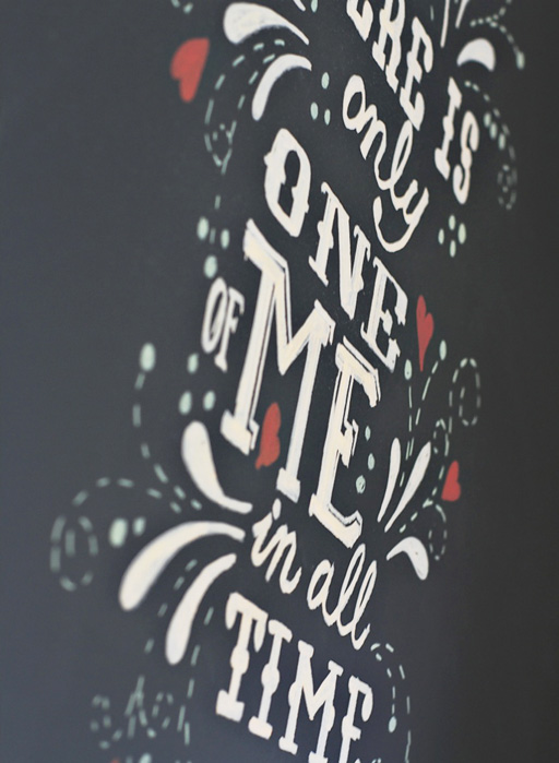 Non Smear Chalkboard Art via lilblueboo.com