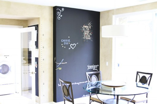 Non-Messy Chalkboard Ink Wall via lilblueboo.com