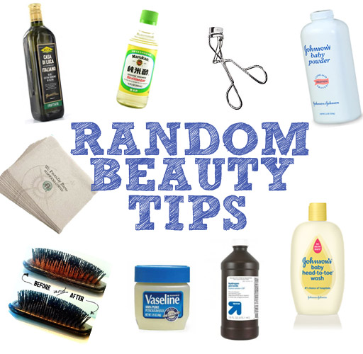 Random beauty tips via lilblueboo.com
