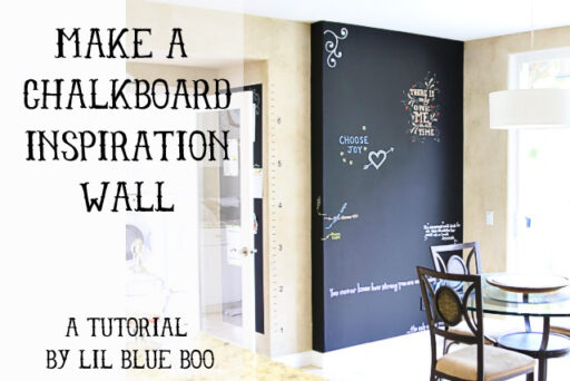 How to make a chalkboard inspiration wall via lilblueboo.com