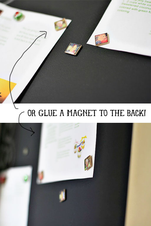 How to Make Miniature Photo Magnets #instagram via lilblueboo.com