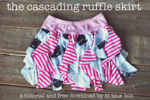 ruffle skirt tutorial via lilblueboo.com