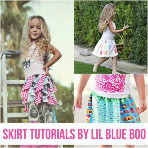 skirt tutorials via lilblueboo.com