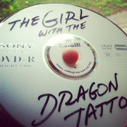 The Girl with the Dragon Tattoo Handwritten Label via lilblueboo.com