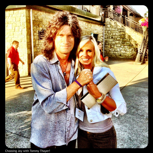 Today I Choose Joy: Tommy Thayer and Perry Choosing Joy via lilblueboo.com #choosejoy