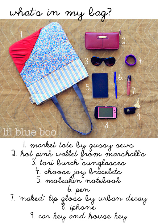 What's in my Gussy Sew's Market Tote via lilblueboo.com